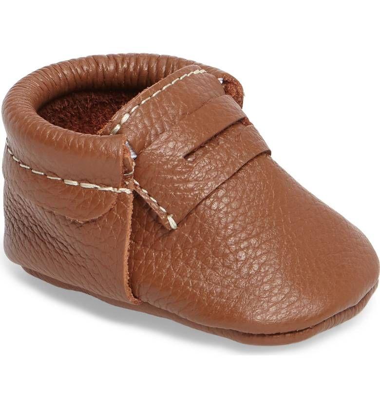 e12c3349cf4 Main Image - Freshly Picked Penny Loafer Crib Shoe (Baby   Walker ...