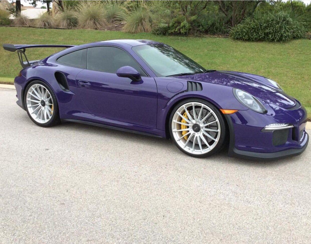 Porsche 991 GT3 RS painted in Ultraviolet Purple w/ HRE