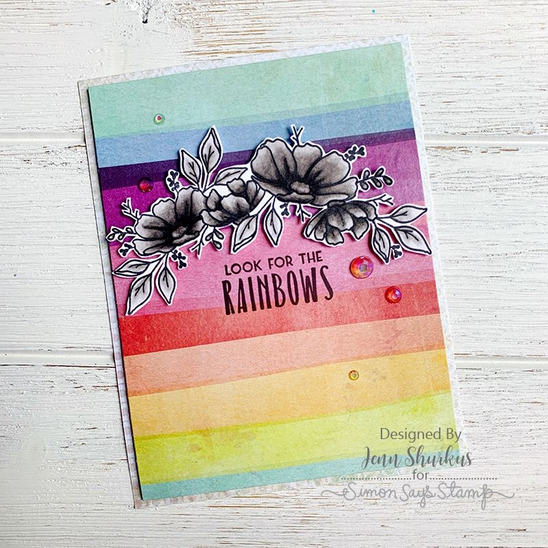 Simon Says Stamp Card Kit of The Month SEPTEMBER 2019 LOOK FOR THE RAINBOWS ck0919 #cardkit
