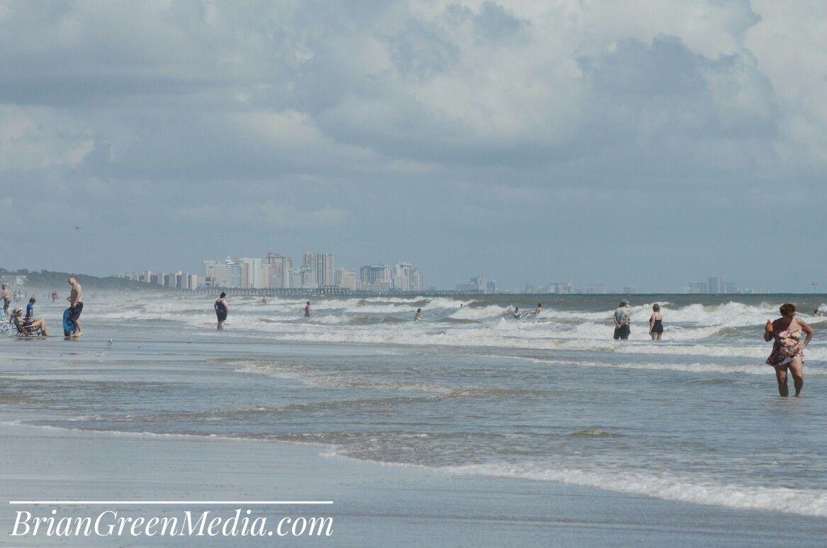 Skyline Beach Ocean Waves