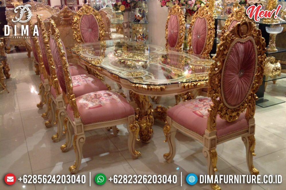 Exclusive Furniture Set Meja Makan Jepara Ukiran Mewah