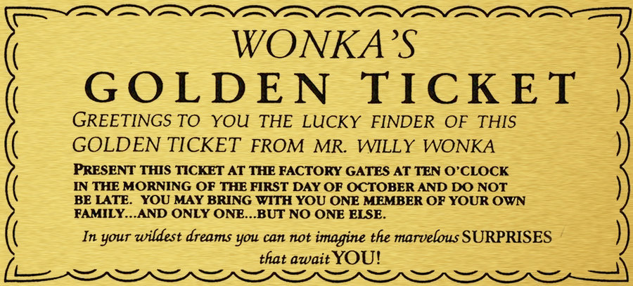 Click For Full Size Image Golden Ticket Template Ticket Template Golden Ticket