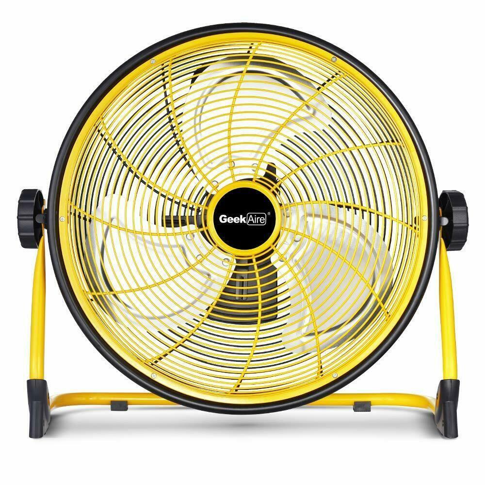 Geekaire Rechargeable Outdoor High Velocity Floor Fan 16