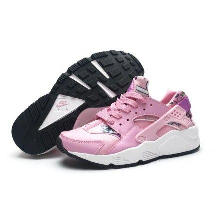 aee2e91d10 Spring Printing Floral Nike Air Huarache Pink Womens Shoes | {shoes ...