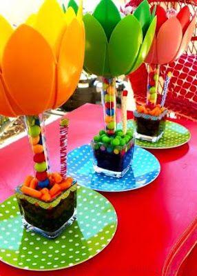 15 Ideas para Elaborar Centros de Mesa para Fiestas Infantiles 15