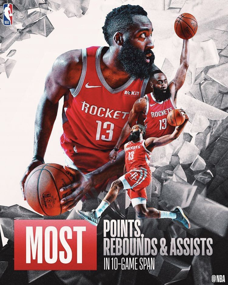 Assists And 68 Rebounds Is The Most Over A 10 Game Span Ever