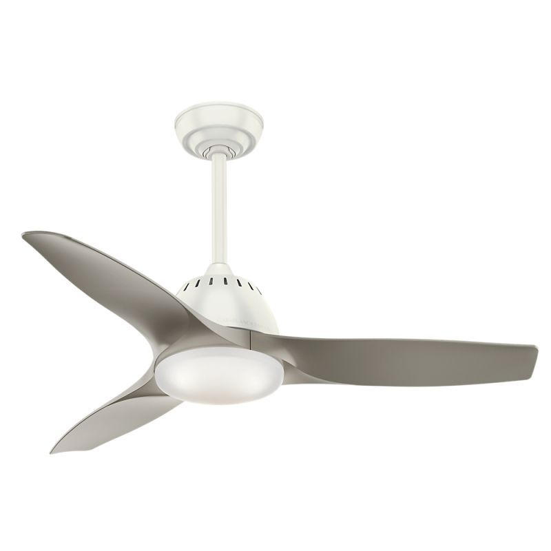 Casablanca wisp 44 44 indoor ceiling fan 3 fan blades and led casablanca 59149 fresh white wisp 44 indoor ceiling fan blades remote and led light kit included mozeypictures Choice Image