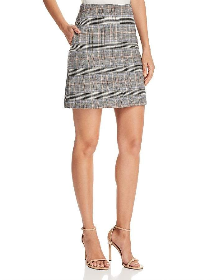 762fd6b1d7 Theory Plaid Mini Skirt | Products | Plaid mini skirt, Mini skirts ...