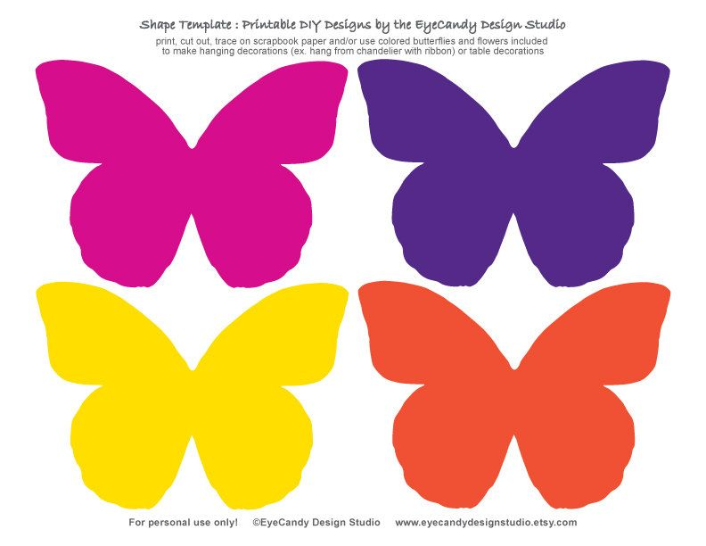 picture relating to Butterfly Cut Out Printable known as Printable Butterfly Flower Templates as a result of
