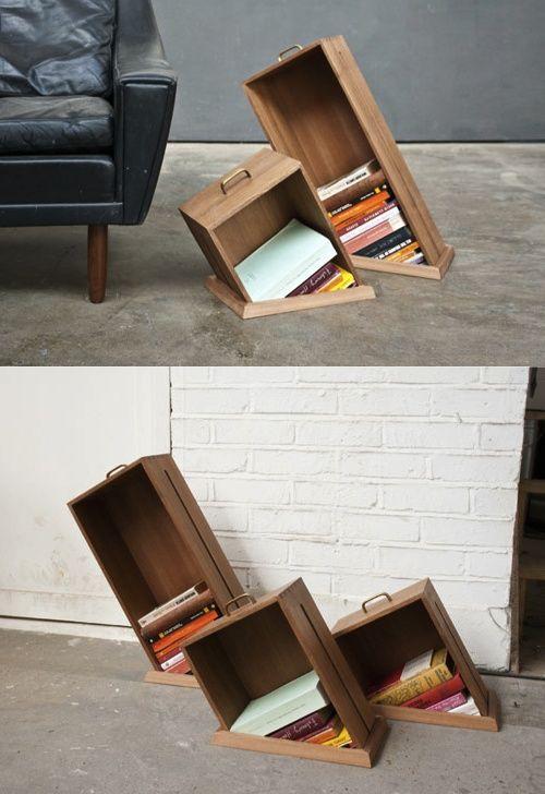 Sunken bookshelves