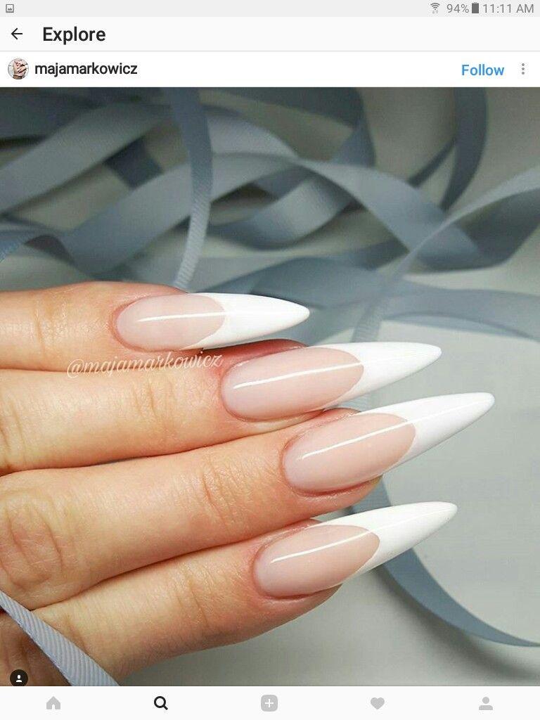 French manicure stiletto | French Manicure | Pinterest | Manicure ...