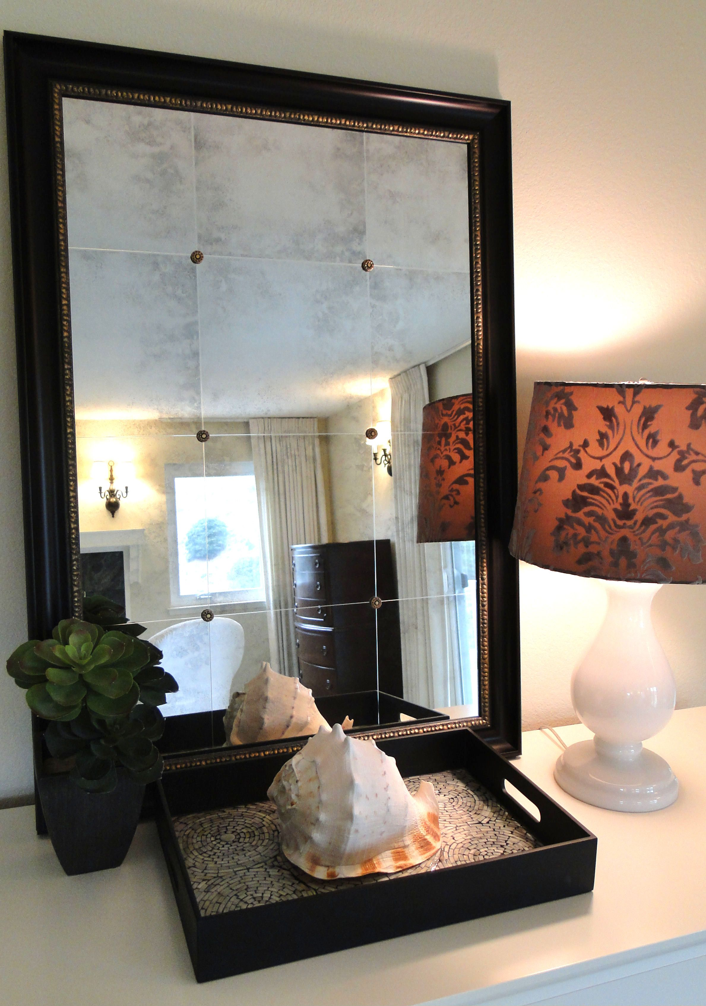 how to antique a mirror from the front