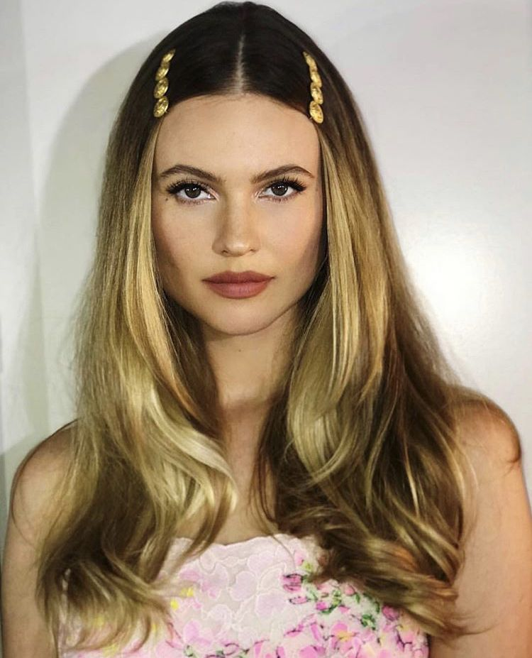 Image result for 90s barrettes middle part