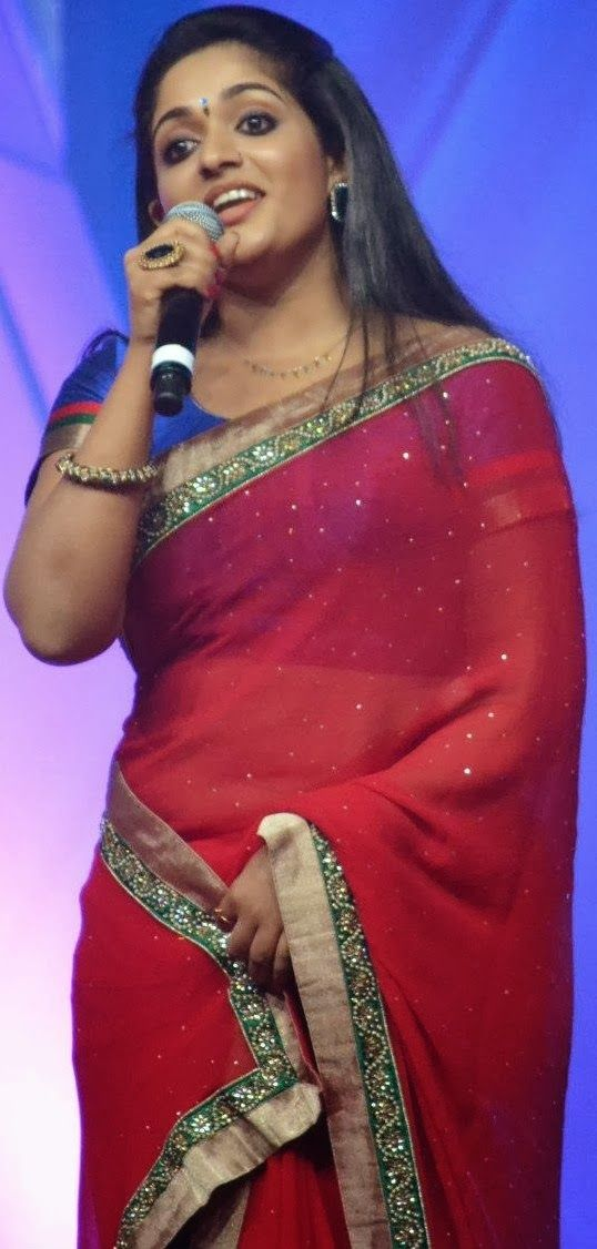Hot Kavya Madhavan Latest Hot Navel Show In Saree