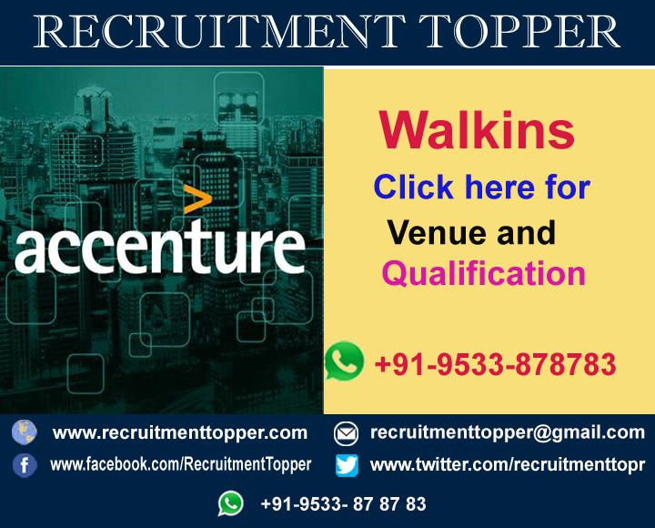 Accenture Services Pvt Ltd Walkins For Freshers At Mumbai Recruitment Job Roles Service