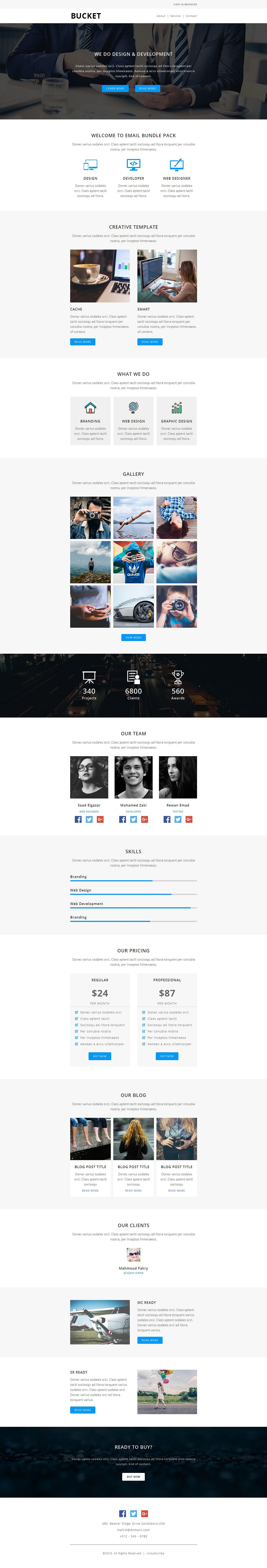 Bucket  Responsive Email Template Js Html Css  Email Templates