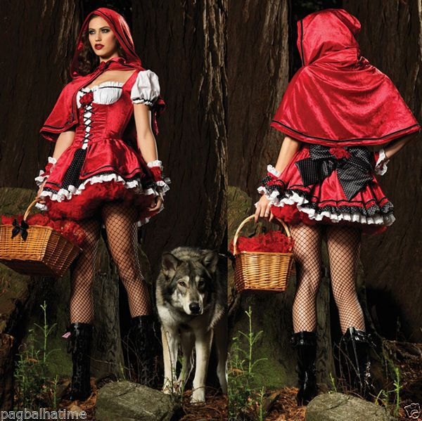 Little Red Riding Hood Adult Sexy Fancy Cosplay Dress Halloween - sexy halloween decorations