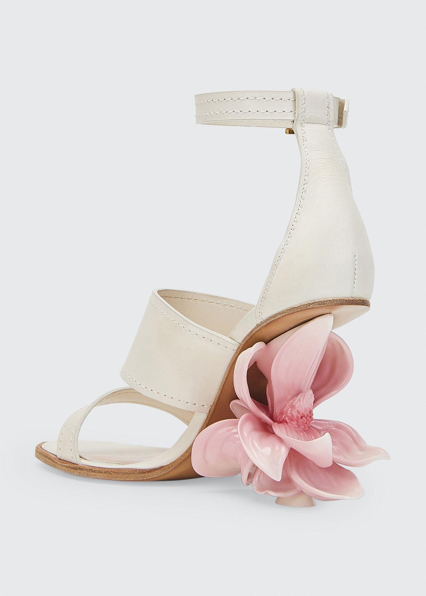 Alexander McQueen Flower Heel Ankle