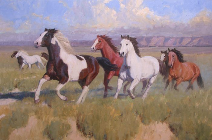 Horse painting by William Alther | Fine Art - Animals ...