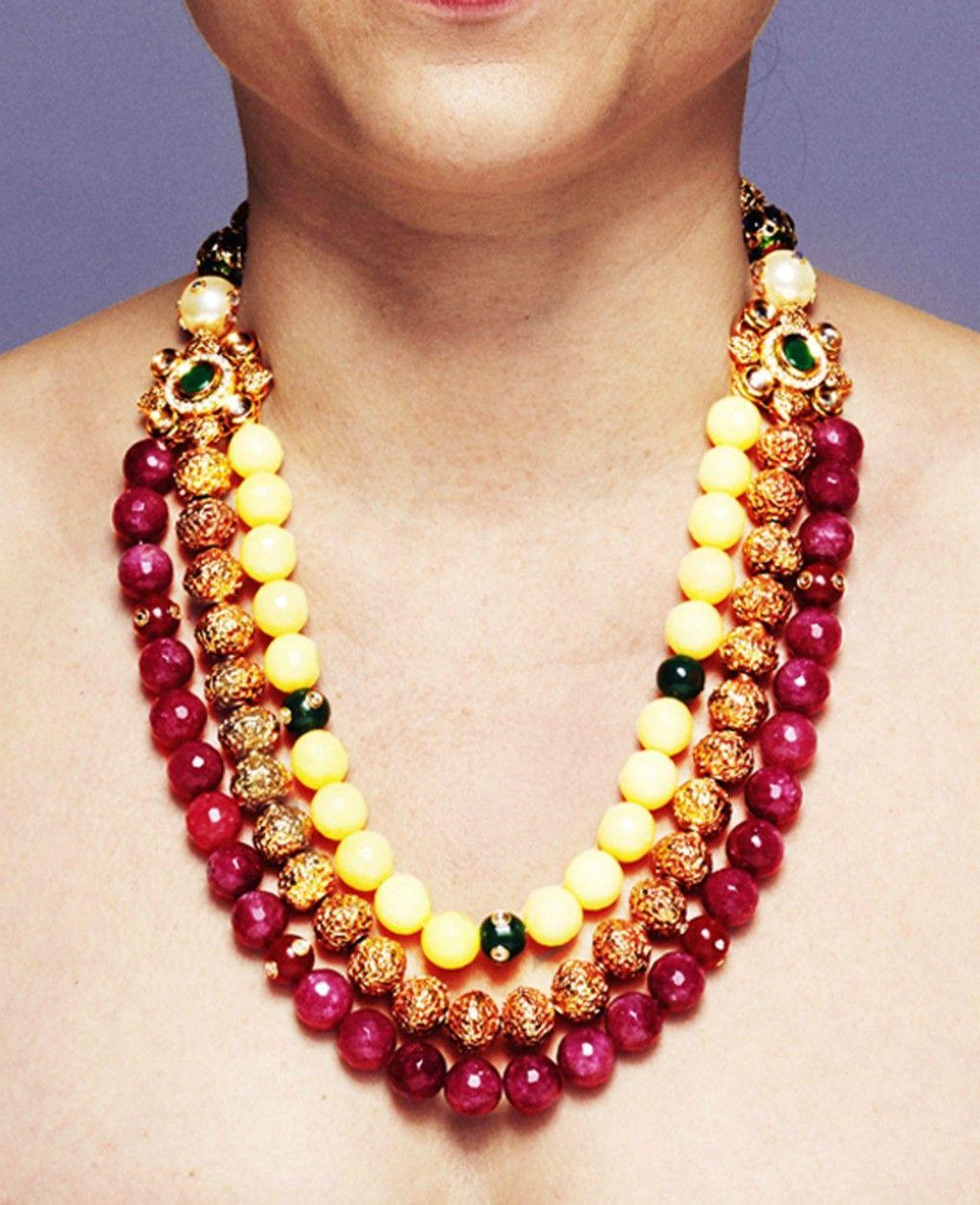 Semi Precious Stone Jewelry India S Fashion | Beaded necklaces etc ...