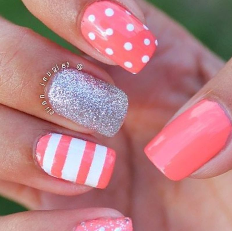 Spring Gel Nail Designs How To Look Good 2017 2018 Spring Nail Art Simple Spring Nails Nail Designs Spring