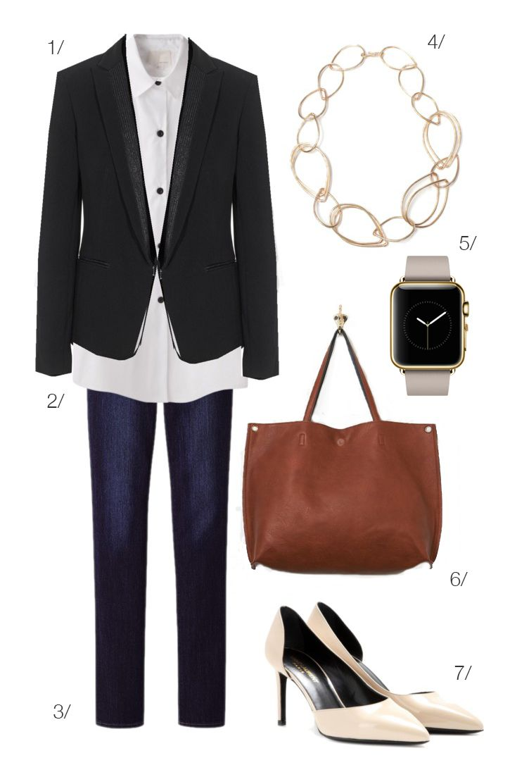 street style inspired: a blazer pairs perfectly with your new Apple Watch // click for outfit details