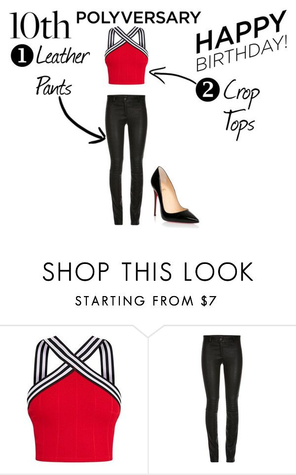 """""""Celebrate Our 10th Polyversary!"""" by katrenakearns ❤ liked on Polyvore featuring ElleSD, Christian Louboutin, polyversary and contestentry"""