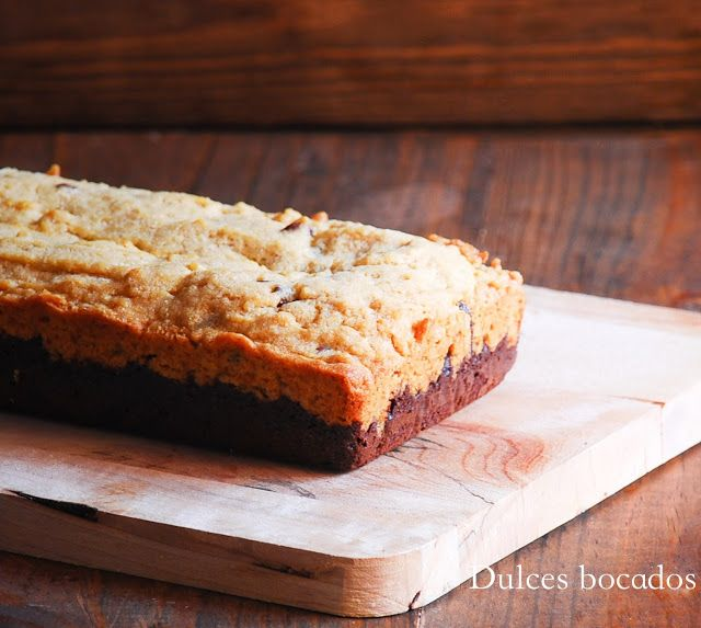 Dulces bocados: Chocolate chips cookie brownie