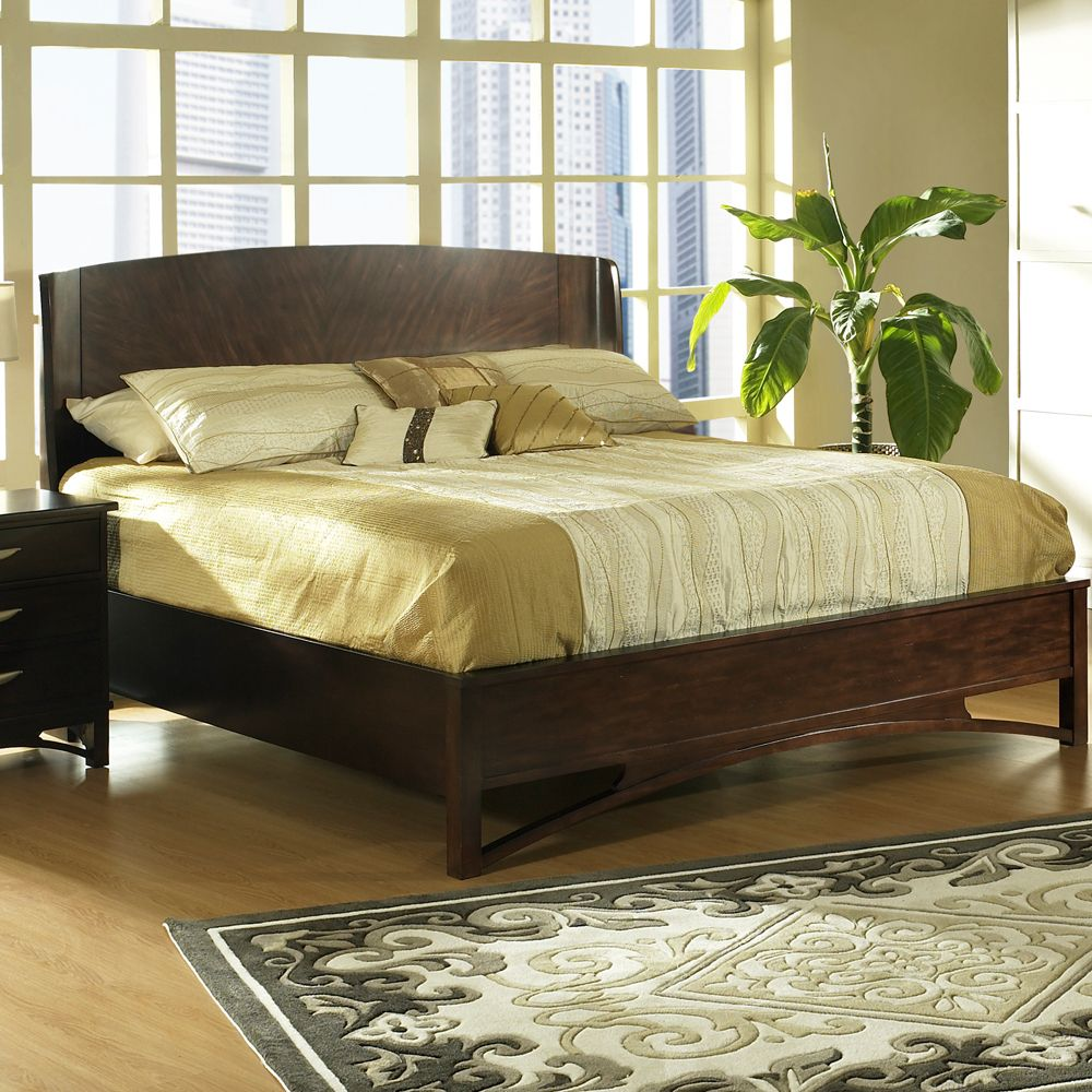 Cirque Wood Panel Bed By Somerton Wooden Panel Bed