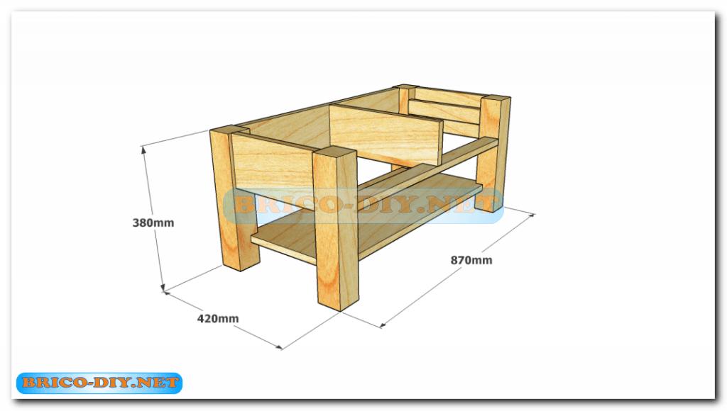 Plano como hacer mesa de centro madera web del bricolaje - Mesa centro diseno ...