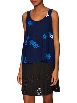 Starry Night Scoopneck Trapeze Top from See by Chloé