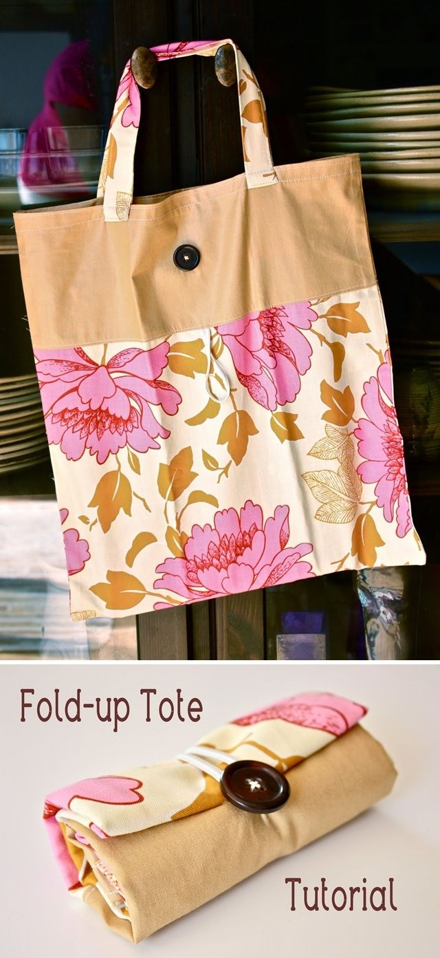 Fold Up Tote Bag Would Be Cool To Use For Reusable