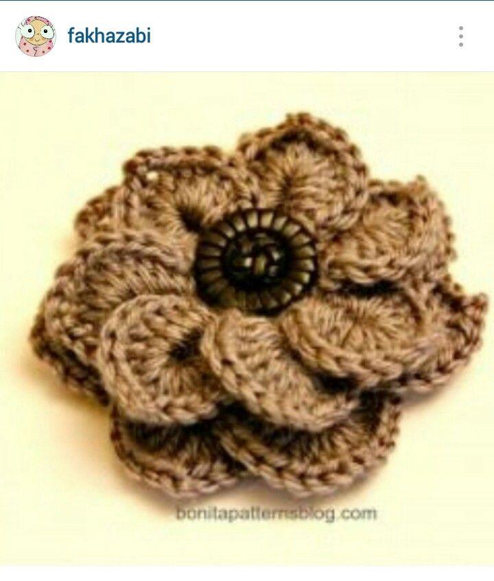 Instagram Fakhazabi Crochet Flower Pattern Diagram Crochet
