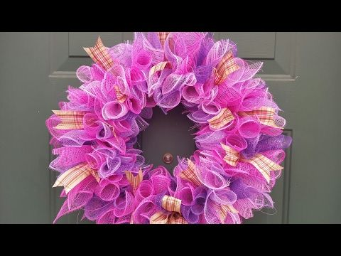 Spring Wreath Ideas How To Make A Deco Mesh Wreath Little Of This