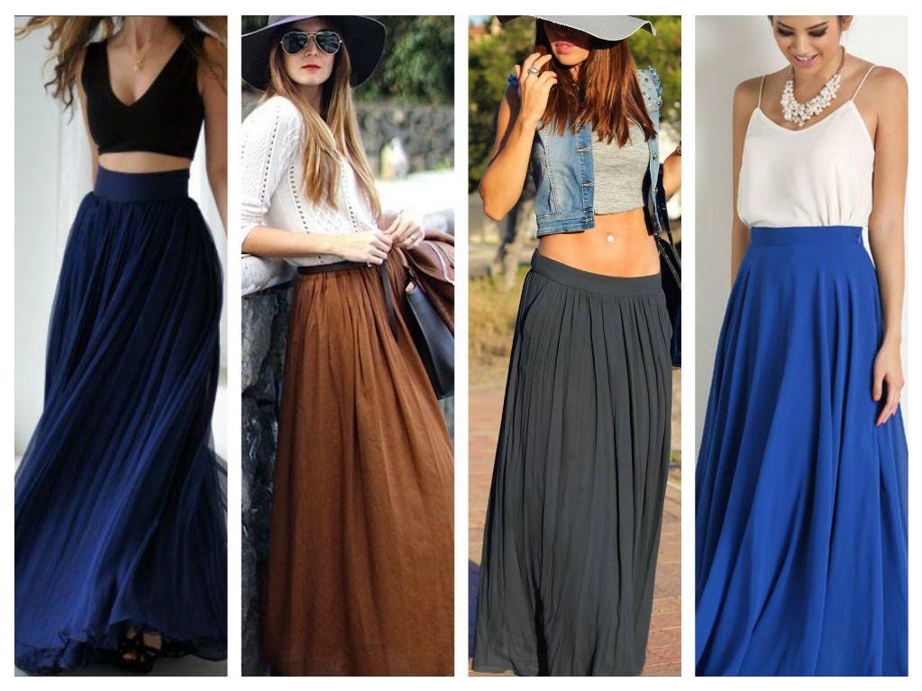 82f15f2d4 11 Maneras de usar faldas largas   outfit   Faldas largas, Outfit ...