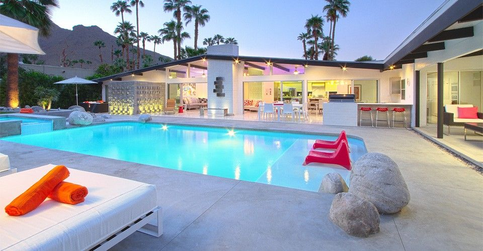 Luxury MidCentury Modern Estate PoolSpa HomeAway Palm