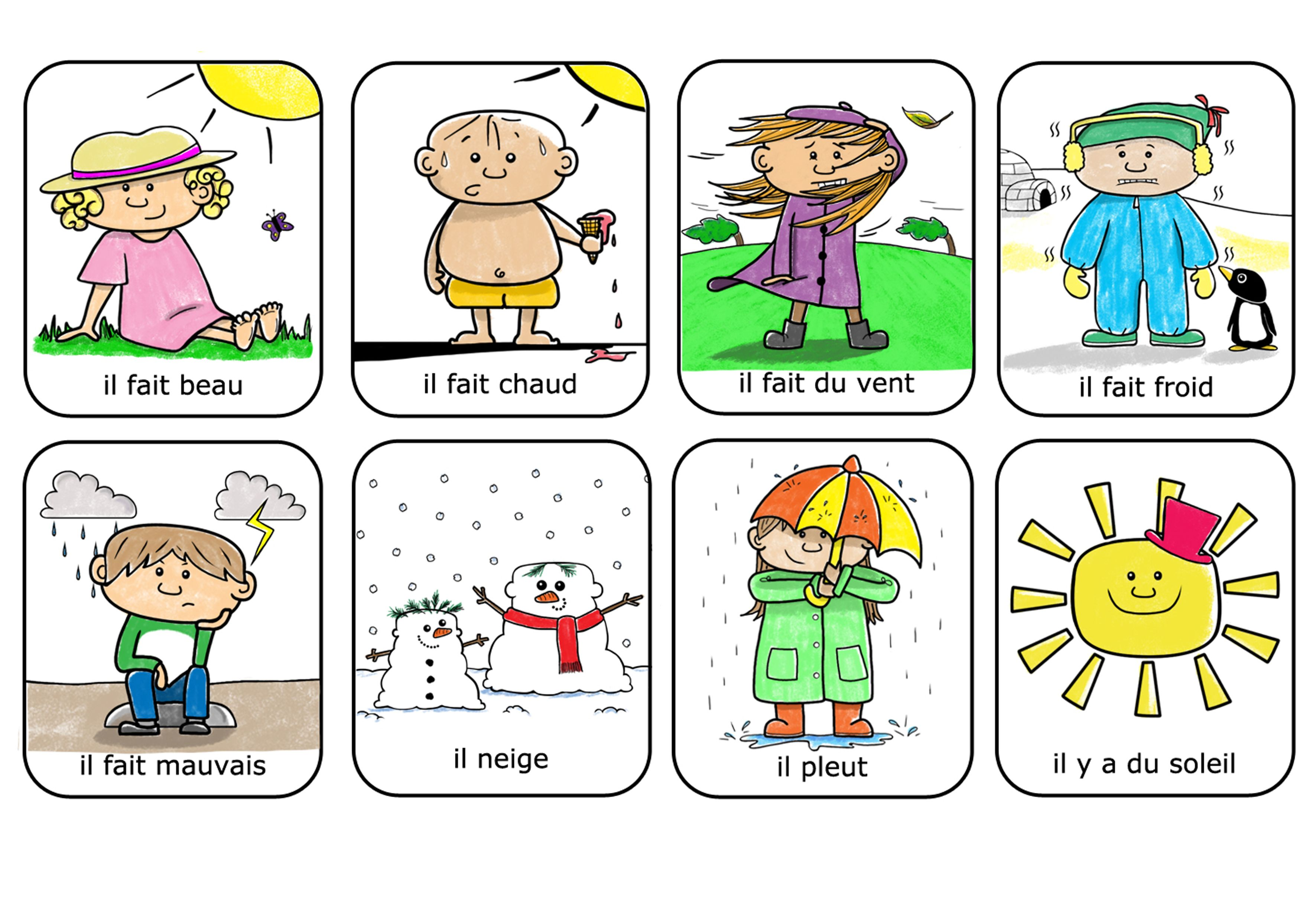 French Weather Expressions For Kids