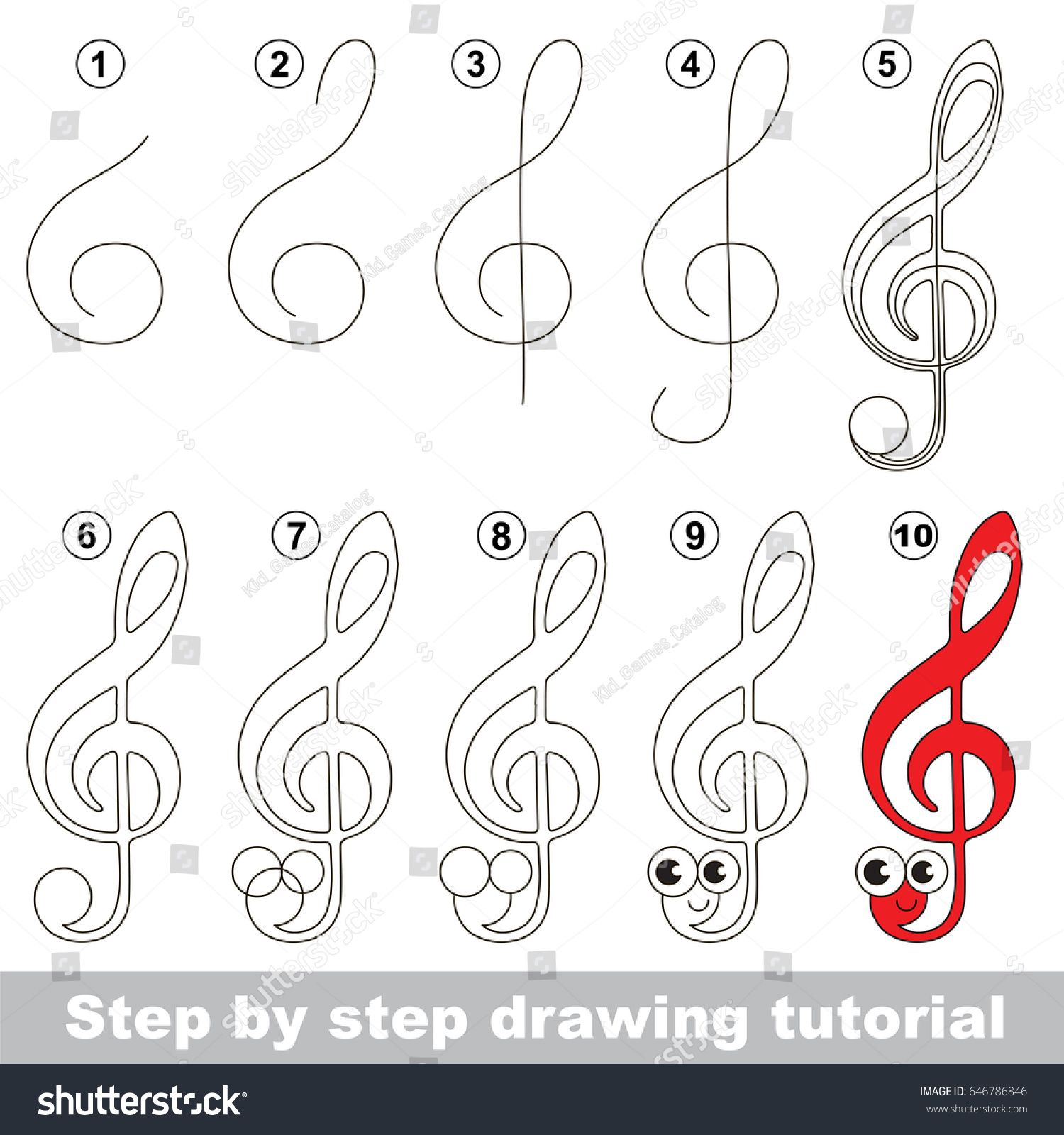 Risultati Immagini Per Learn To Draw Treble Clef Worksheet