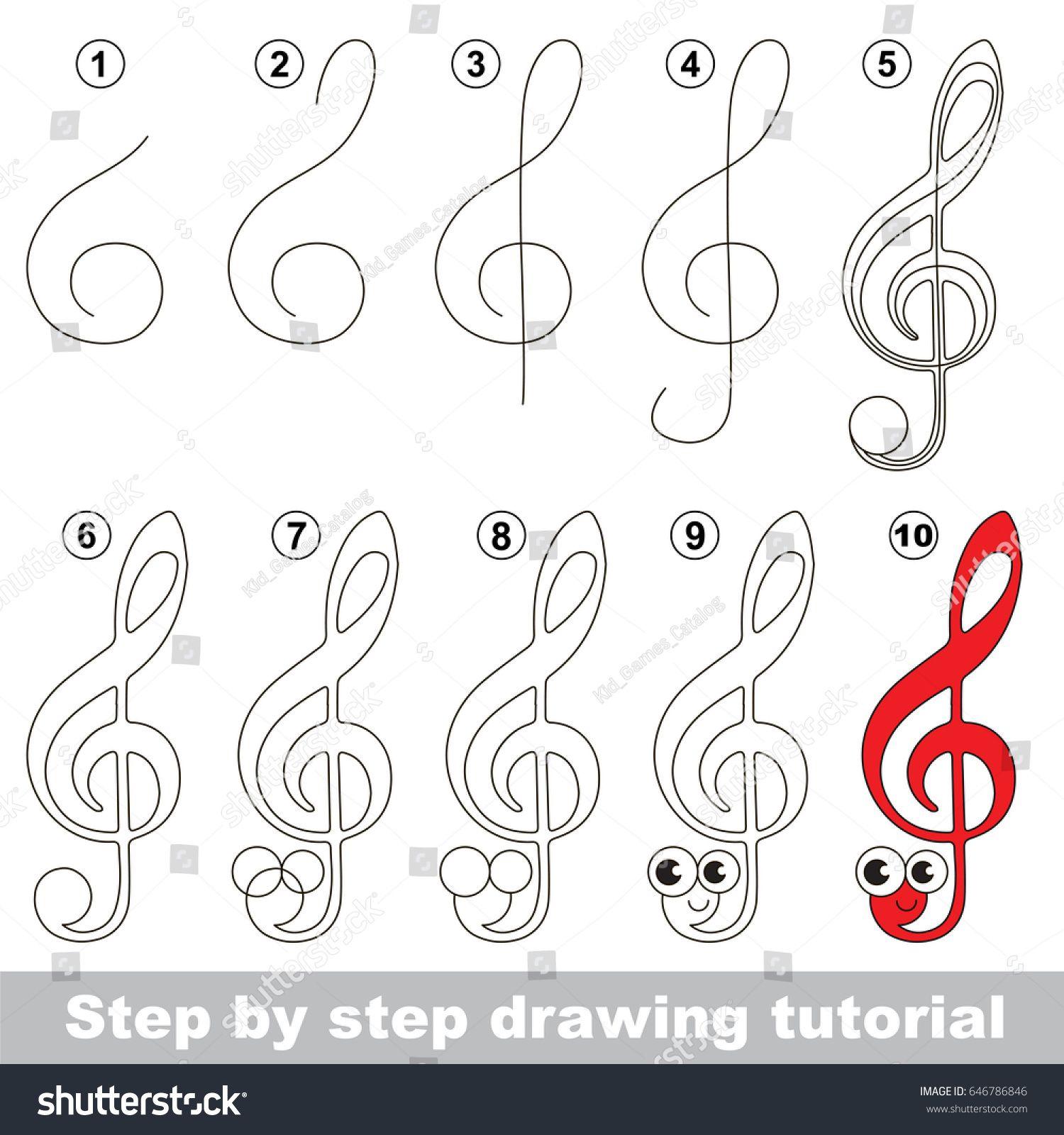 Risultati Immagini Per Learn To Draw Treble Clef Worksheet