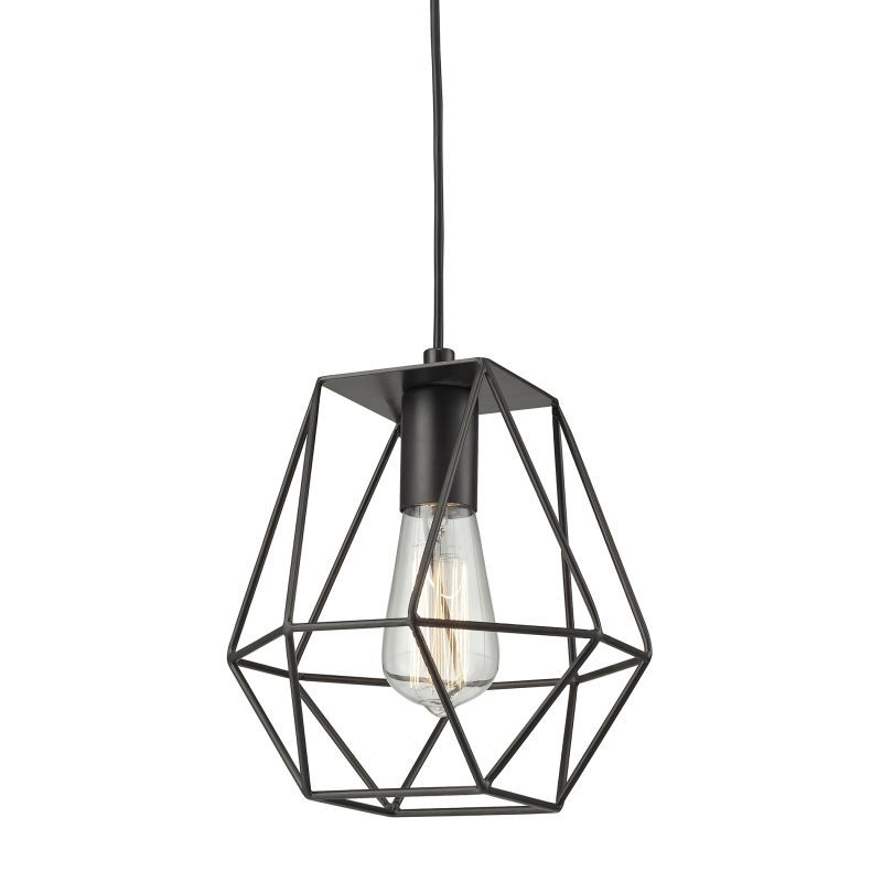 Elk lighting 311851 delaney single light 8 wide mini pendant with elk lighting 311851 delaney single light 8 wide mini pendant with round canopy aloadofball Images