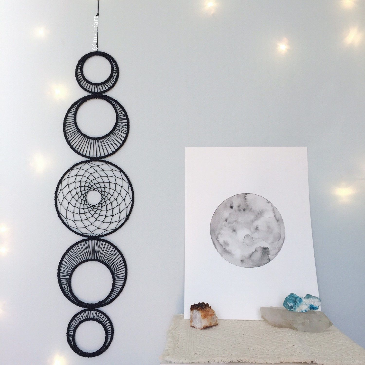 Dreamcatcher Wall Art large moon phase wall art - large moonphase wall hanging - lunar