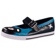 Turquoise Teddy Plimmie Mary Jane   FLATS