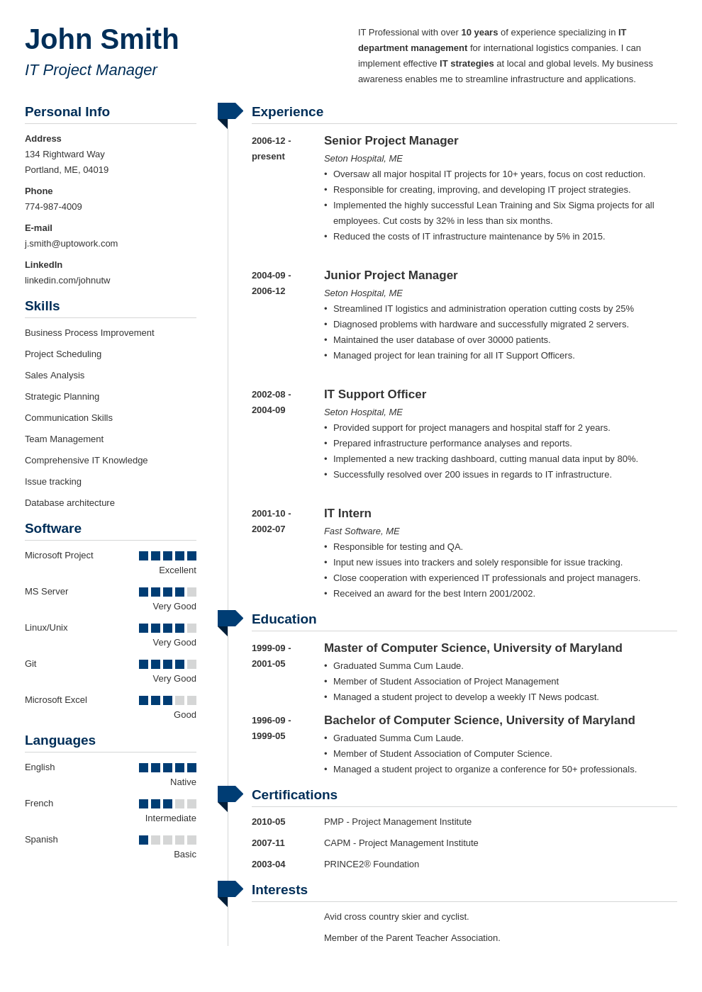 Professional Resume Template Muse