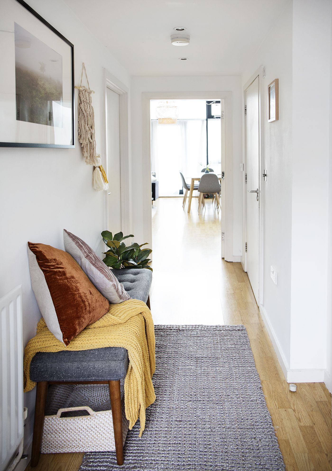 Hallway Makeover With West Elm Uk The Lovely Drawer Hallway Seating Bungalow Hallway Ideas Small Hallways