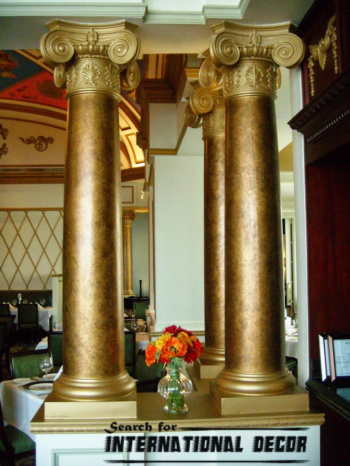 and column decor decorative options rndromanioniccap permacast fiberglass bases caps base roman ionic cap columns round
