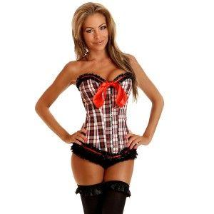 54e88233d School Girl Checkered corset bustier