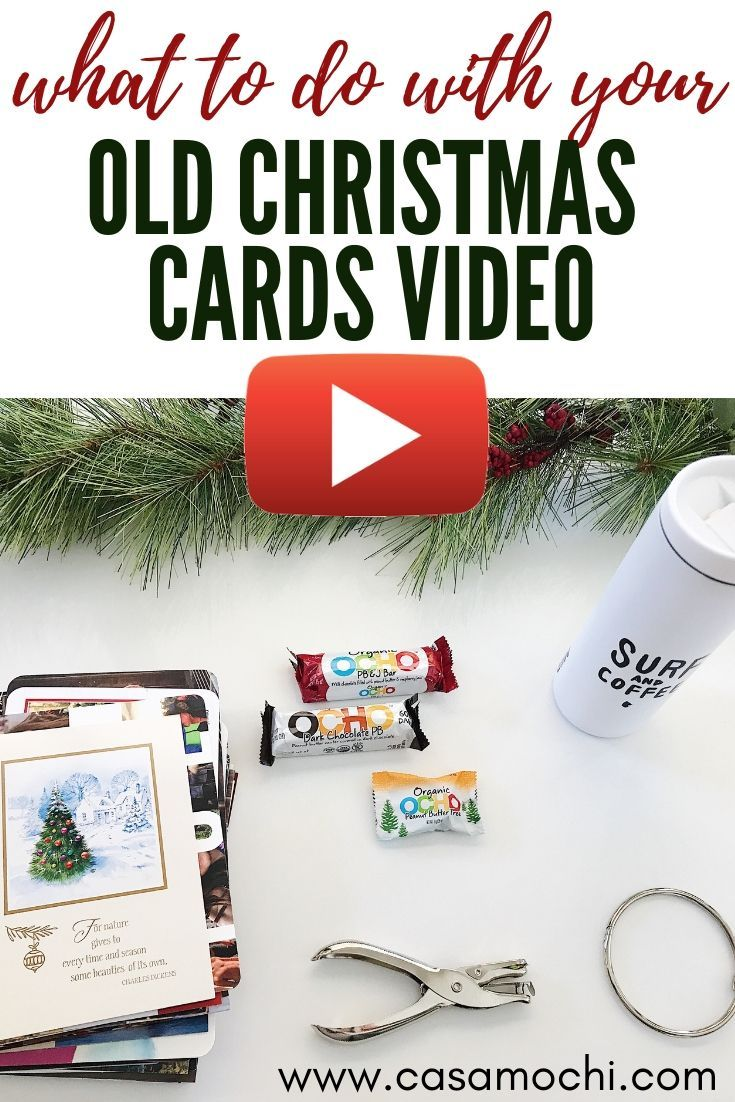 What to do with Old Christmas Cards Video. An easy, and quick craft for your old Christmas cards.   Old Chistmas cards video, what to do with Christmas cards, christmas card craft, what to make with christmas cards, Youtube, Mom youtube   #christmasfeels #christmascards #christmascard #christmascraft #video #youtube