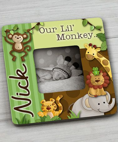 This Jungle Safari Personalized Frame is perfect! #zulilyfinds