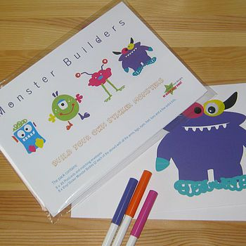 Create Your Own Monster Sticker Stationery Set