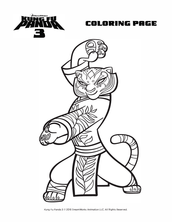 Kung Fu Panda 3 Coloring Sheets Free Printables Tigress Panda Coloring Pages Kung Fu Panda Coloring Pages